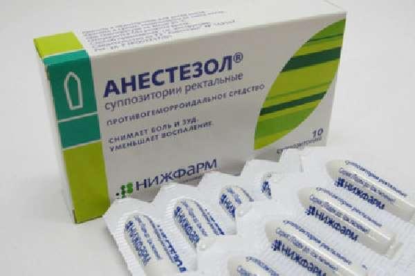 Как применять свечи Анестезол при геморрое?